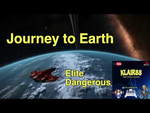 My Journey to Earth in Elite: Dangerous - PS4 Pro Gameplay
