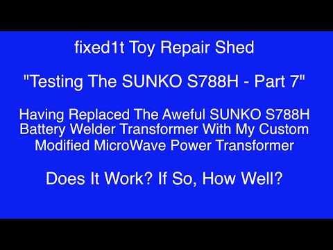 Fixed SUNKO S788H Battery Spot Welder Repair In A House Part 1