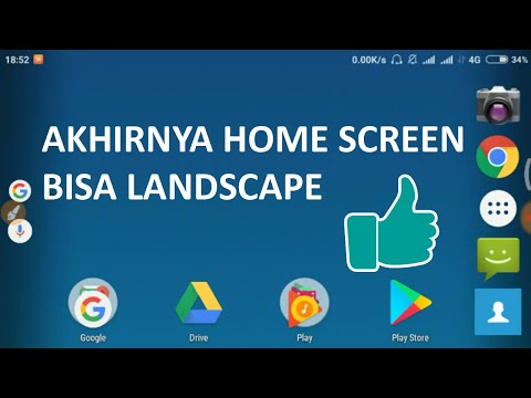 cara memutar / rotasi layar home screen android jadi landscape rotate screen