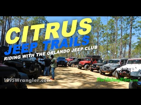 Riding trails at Citrus with Orlando Jeep Club 2018