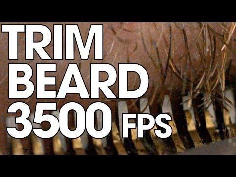 Trim a beard in Ultra slow motion