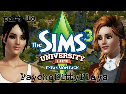 Let's Play: Sims 3 University Life. Part 10. Boys and Science.