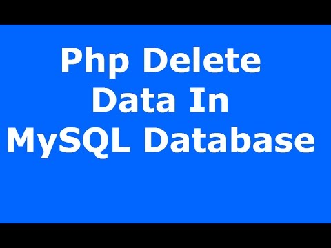 Php : How To Delete Data In MySQL Database Using Php MySQLI [ with source code ]