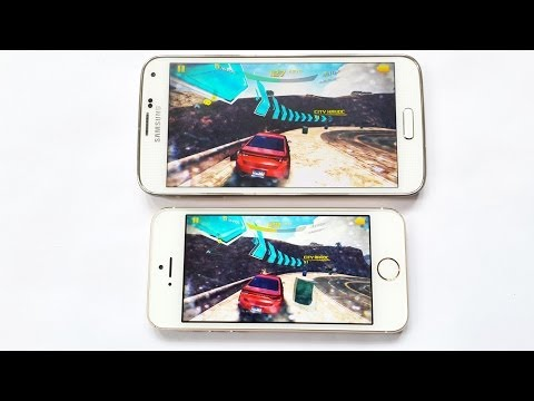 Samsung Galaxy S5 vs iPhone 5S Gaming Speed Test & Performance HD