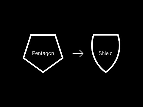 Creating a vector shield from pentagon shape in Adobe Illustrator.