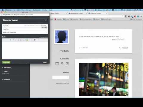 HOW TO - Create Additional Tab on Tumblr