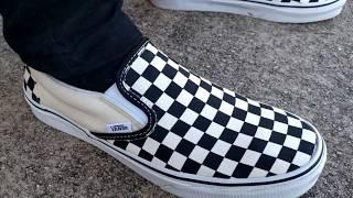 57c1d3a8d37a4b Vans Slip On Checkerboard (ON FEET) Videos - 9tube.tv