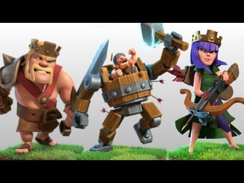 Battle Mechine V/S Barbarian King | Battle Machine V/S Archer Queen | Clash Of Clans.
