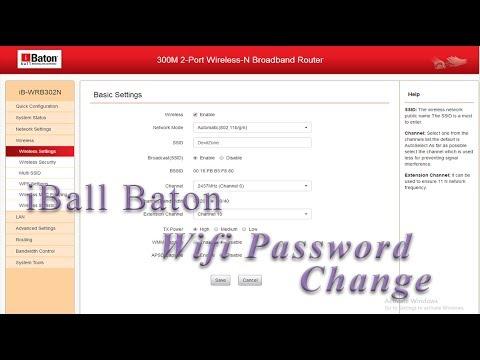 iBall Baton Wifi Password: How to Change Wifi Password in iBall Baton Modem