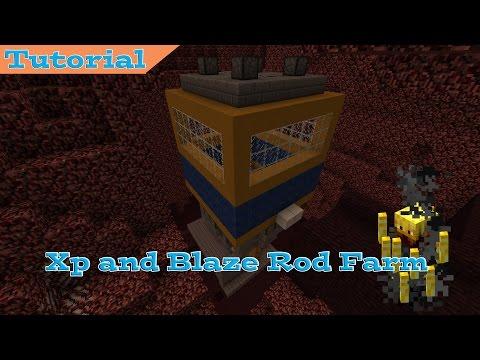 Minecraft Very Efficient Blaze Farm - 1.8+ Xp and Blaze Rod Farm!