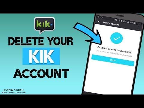 How to Delete/Deactivate Kik messenger Account?