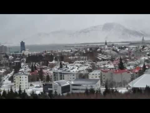 View of Reykjavík from the top of The Perlan, Iceland