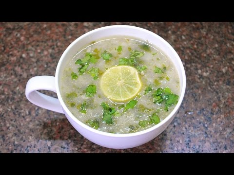 Lemon Coriander Soup - A Refreshing Soup