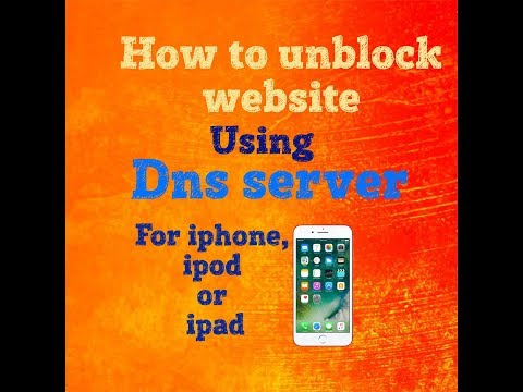 how to change dns server on iphone by wifi