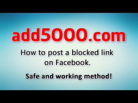 How to post a blocked link on Facebook