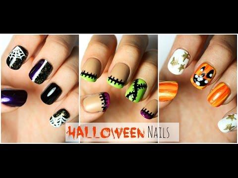 3 Halloween Nail Designs!   Viki NailBeauty