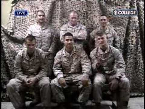 CBS College Sports Checks in with the Troops