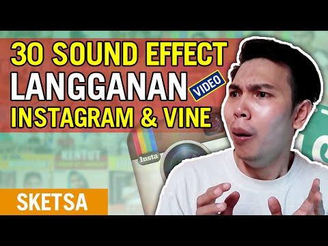 30 SOUND EFFECTS LANGGANAN VIDEO INSTAGRAM dan VINE