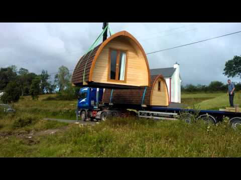Camping Pods being delivered to Battlebridge Caravan & Camp Site - Leitrim/Roscommon