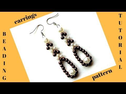 ✅How to make pearl earrings. Earrings making tutorial👇