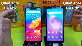Infinix hot7 VS Infinix hot6 مقارنة هاتف إنفنيكس هوت7 و هوت6
