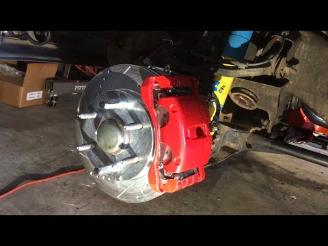 Install Power Stop Front Rotors Calipers Pads & Russell Brake Lines
