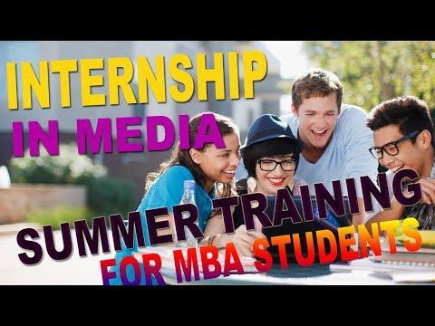 Best Internship Media Houses   Summer Training for MBA Student in Delhi