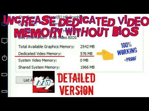 How to Increase Dedicated Video Memory | Without BIOS | Detailed Version