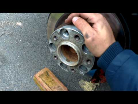 BMW E90 Handbrake Shoe Adjustment