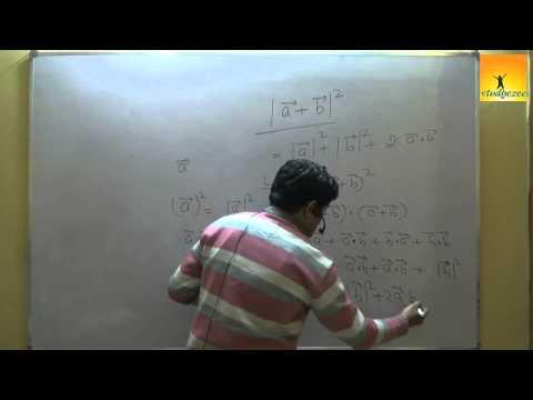 Class 12 Maths : Vectors - Dot product ( Scalar product ) Part 1