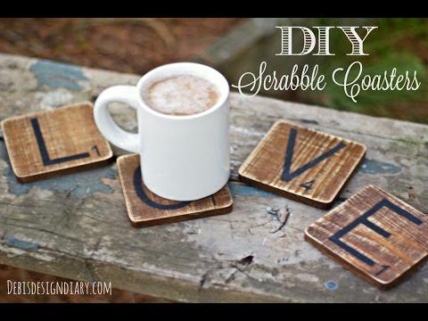 DIY weathered wood coasters