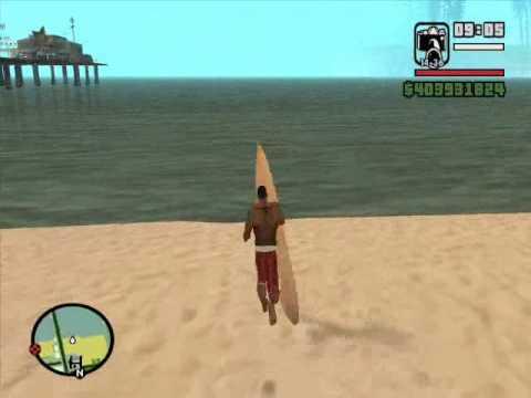GTA SAN ANDREAS SURFING MOD