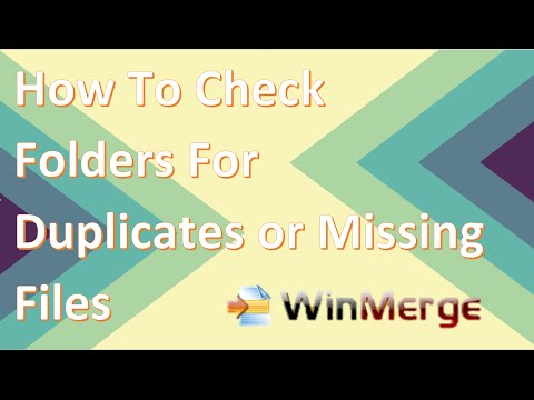 How to check identical folders for missing or duplicate files with WinMerge