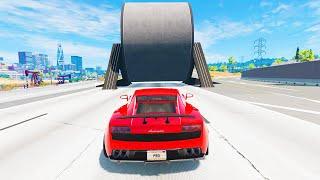 Cars vs Giant Roller - BeamNG.Drive