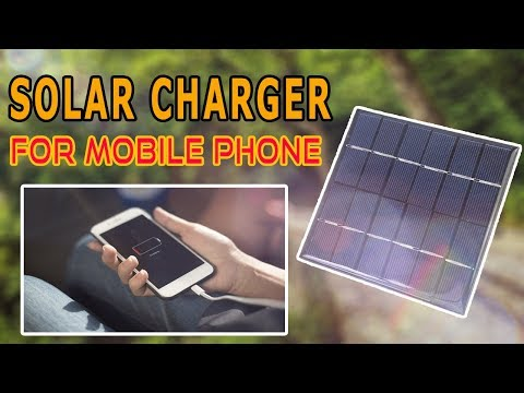 How to make Solar 5 volt charger for mobile phone at home  | USB Smartphone Charger |