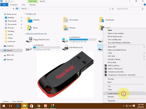 Shortcut Key to Open USB Pen Drive in Windows Pc & Laptop