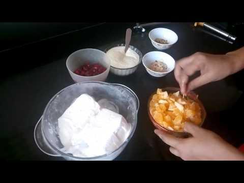 Curd Icecream Fruit Salad