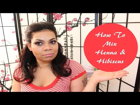 How To Mix Henna and Hibiscus Tea | Natural Red Hair Dye - Color