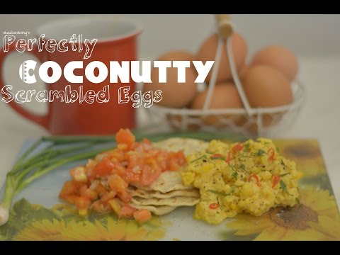 Coconut Scrambled Eggs | SheDoesLiving