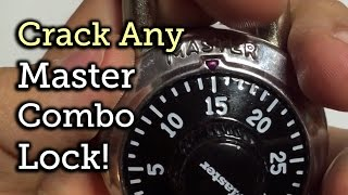 Break open any Master Combo Lock in 8 tries or less!