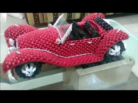 Amazing 3d Origami Car  - Mercedes Benz Roadster 1936