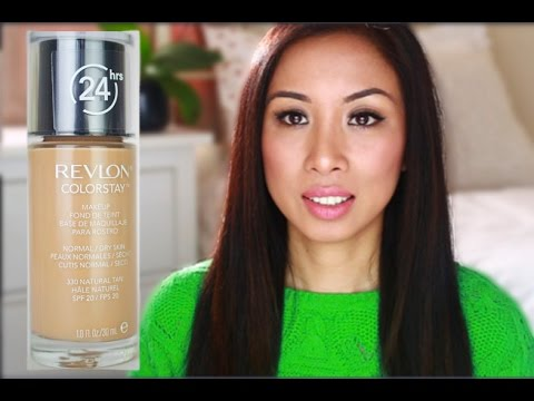 Revlon Colorstay foundation l First impression l Demo l All day test l Withlesleyx