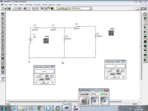 11th Feb part 1 Multisim simulation of attenuator design