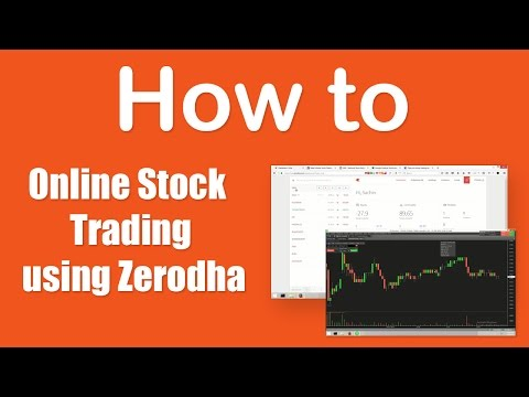 How to stock trading online using Zerodha