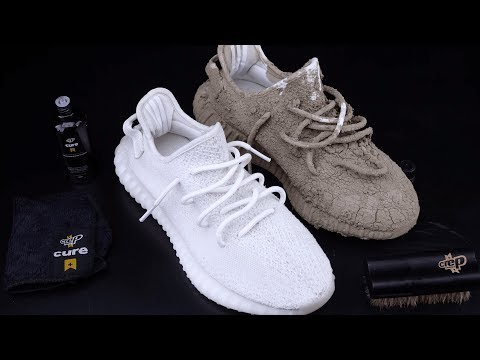 How To Clean Yeezy 350 V2 Cream White vs Mud - Crep Protect Cure - EXTREME TEST