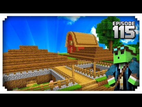 Let's Play Minecraft PE - Ep.115 : Farms and Building!