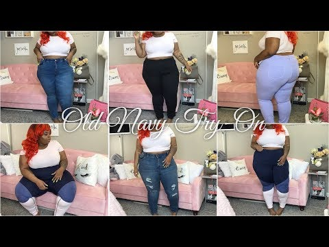 Plus Size Old Navy Jeans/Bottoms Try-On | Plus Size Sizing Inconsistencies | ft. Unice Hair