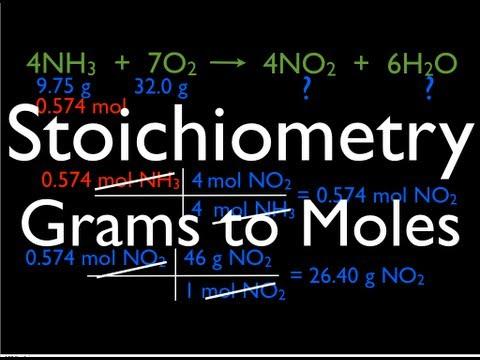 Stoichiometry: Grams to Moles