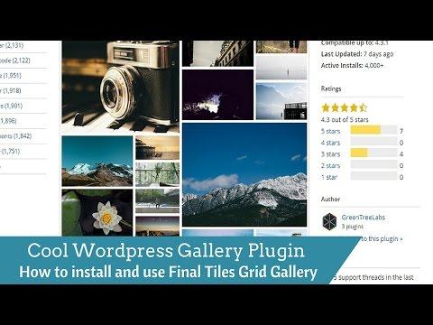 Cool responsive grid gallery plugin for Wordpress