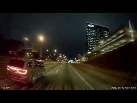 Avoiding Atlanta traffic by going thru early morning - dashcam video